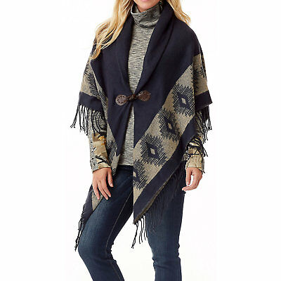 Legendary Whitetails Ladies Grand Cove Hooded Poncho Navy