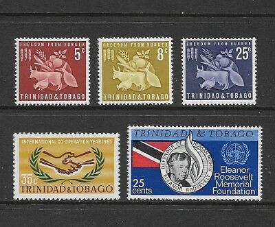 TRINIDAD & TOBAGO 1963 Freedom From Hunger, 1965 stamps, mint MH MNH MUH