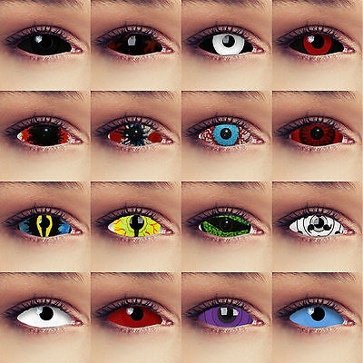 Colored full eye Sclera contacts 22mm Cosplay Larp Halloween costume lenses