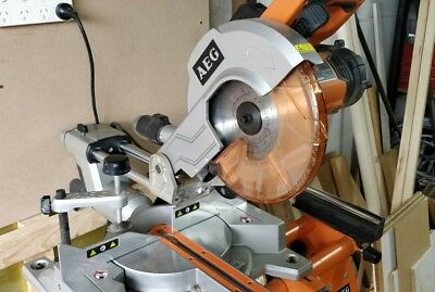 2000w 254mm AEG sliding compound mitre saw with stand