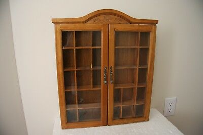 VINTAGE WALL CABINET, Wood with Glass Doors