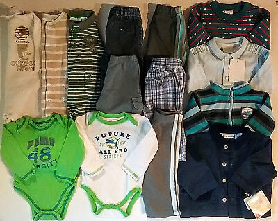 Baby Boys Size 6-9 9 Months Fall Winter Mixed Clothes Lot Pants Tops Shirts