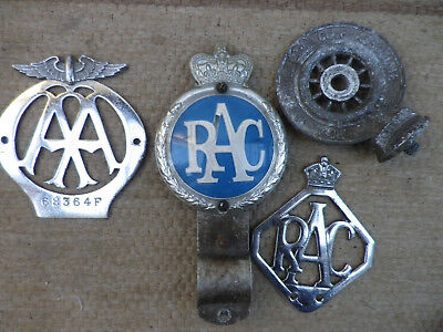 Vintage Aa And Rac Classic Car Badges