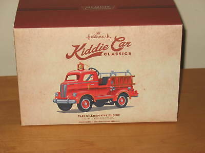 Hallmark 1945 Gillham Fire Engine Pedal Kiddie Car Classics Limited Edition NIB