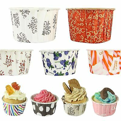 Coloured Grease-Proof Hard Premium Cupcake Cases - 3 Sizes - NO MOULD REQUIRED