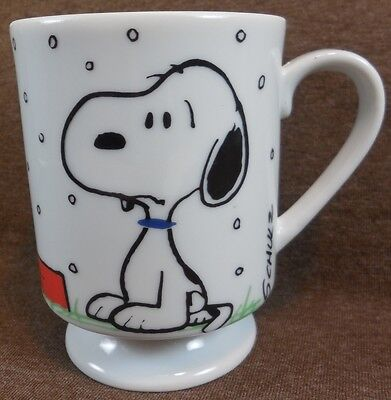 Vintage PEANUTS SNOOPY I Hate It When It Snows On My French Toast COFFEE MUG Cup