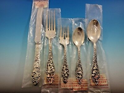 Labors of Cupid by Dominick and Haff Sterling Silver Flatware Set Service New