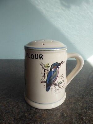 Brixham Pottery - Bird Design - Flour Shaker