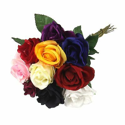 Single Eco Rose Stem - Silk Artificial Silk Flowers Funeral
