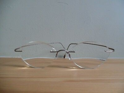 Silhouette Titan Pearly Beige Rimless Eye Glasses 7395 40 6073 140