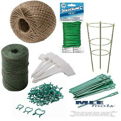 # Garden Plant Ties String Natural Twine Wire Adjustable Ring Support Marker
