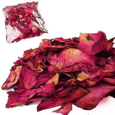 Bulk Pack of Natural Dried Rose Petals - 50 grams Wedding Confetti TOP QUALITY
