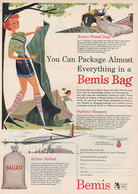 1954 Bemis Bag: You Can Package Almost Everything Vintage Print Ad