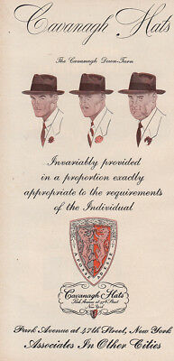 1950 Cavanaugh Hats: Proportion Exactly Appropriate Vintage Print Ad