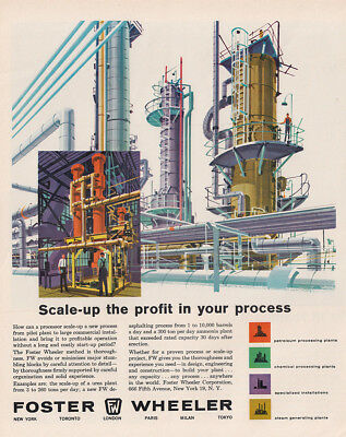 1962 Foster Wheeler: Scale Up Your Profit Vintage Print Ad
