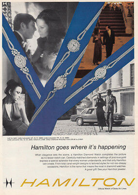 1972 Hamilton Watch: Goes Where Its Happening Vintage Print Ad