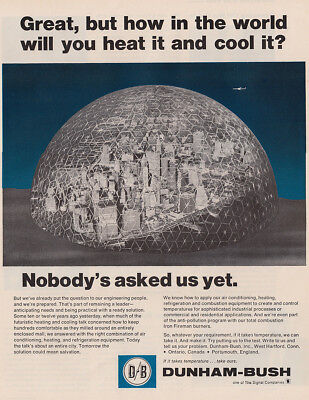 1970 Dunham Bush: Great But How in the World Vintage Print Ad