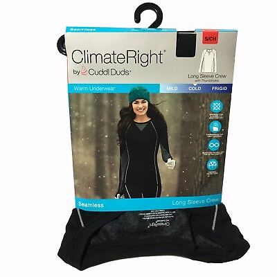 Climate Right Seamless Long Sleeve Crew with Thumb holes (multiple sizes)