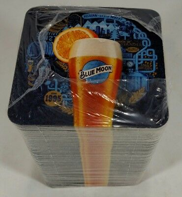 100 Blue Moon Belgian Style Beer Since 1995  Bar Coasters #BARART New!
