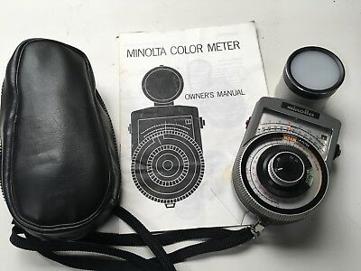 Minolta colour meter with manual and case