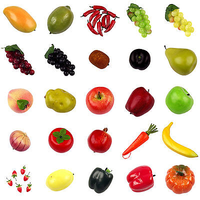 TOP QUALITY Assorted Mix Lot of 25 Artificial Fruits and Vegetables