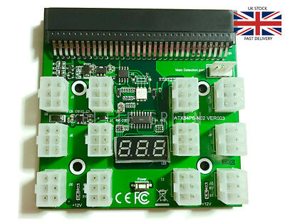 Breakout Board for HP Server Power Supplies GPU/ASIC Mining 12* 6Pin PCIe Slots
