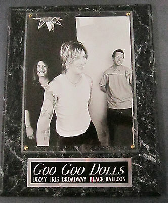 #1 Fan Goo Goo Dolls Framed 8 X 10 Photo 12 X 15 Wall Plaque Display