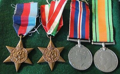 WWII Uk Group of 4 Medals