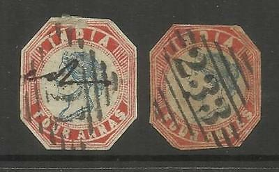 INDIA CLASSIC ~ 1854-55 QUEEN VICTORIA 4a (USED) TRIMMED