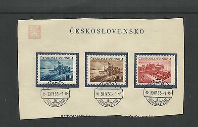 Czechoslovakia ~ 1952 Agriculture Day ~ Cto On Piece