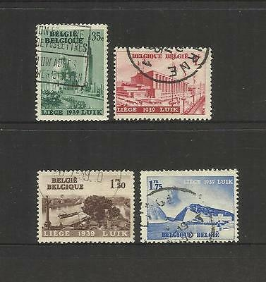 Belgium Belgique Belgie ~ 1939 International Exhibition Liege Luik (Used Set)