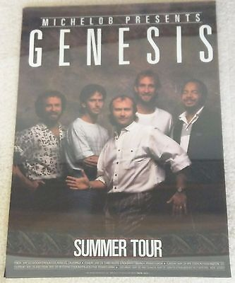 Genesis / Phil Collins / 1987 Michelob Beer Promo Summer Concert / Tour Poster