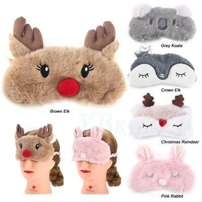 Warm Cute Animal Eye Mask Cover Sleeping Funny Eyepatch Rest Lovely Toy Gift zy