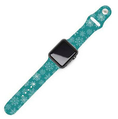Holiday Replacement Band for 38mm Apple Watch fits Series 1,2,3 - Snowflake