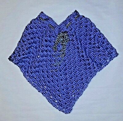 Child's Crochet Poncho, Handmade poncho, Girls Poncho Size 2-4 T,  Outerwear