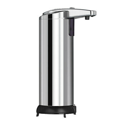 Touchless Automatic Soap Free Hands Sanitizer Dispenser Kitchen 280ml Silver
