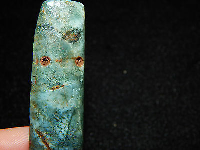 Pre-Columbian Jade Pendant, Authentic, Blue-Grey Jade, Central America