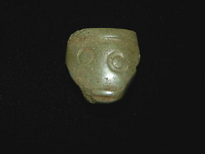 Pre-Columbian Ceremonial Carved Head, Stone, Central America