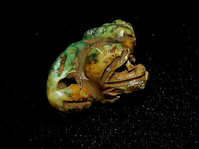 Pre-Columbian Snake Pendant Effigy Bead, Authentic