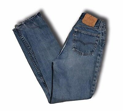 Vintage Women's LEVI'S Button Fly High Waisted Denim Jeans Sz 9 Made in USA