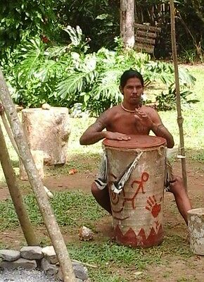 Taino Indian Drum From The Region of Pinar Del Rio, Authentic, One of a Kind