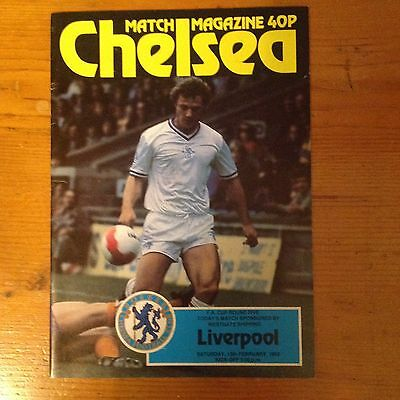 CHELSEA v LIVERPOOL F A CUP 5th round 13th february 1982