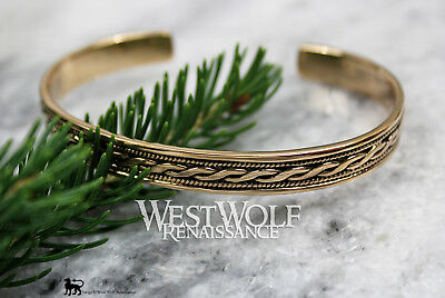 Celtic Twist Design Bracelet - Bronze --- Viking/Norse/Medieval/Gold/Bangle/Torc
