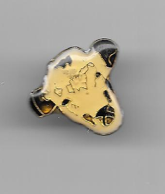 Vintage Whiteface Horned Hereford Cow Cattle Head old enamel pin