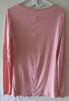 LULULEMON ATHLETICA Women's Peach Long Sleeve Workout Yoga Tank Top - Size 8?