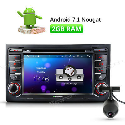 """DVR 7"""" Android Car Stereo GPS Navi 2GB RAM DVD for Audi A4/S4/RS4 2002 2005 2006"""