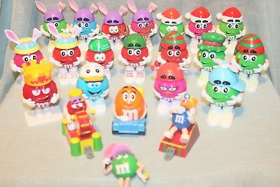 22 Piece Lot Of Various M&m's In Different Themed Holiday Costumes