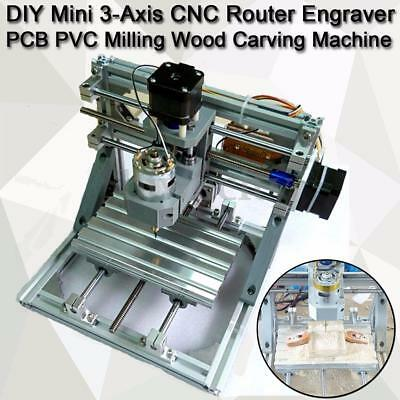 Mini 3-Axis CNC Router Engraver DIY Carving Machine for PCB PVC Milling Wood US