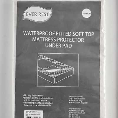 NEW Ever Rest Waterproof Fitted Soft Top Mattress Protector Pad By Spotlight
