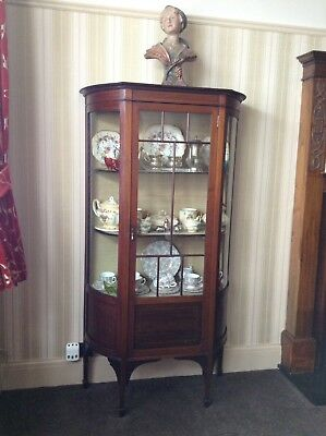 Beautiful Mahogany Edwardian Display Cabinet in Very Good Condition-Collect ME12